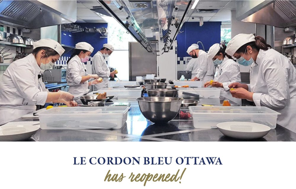 Le Cordon Bleu Ottawa has reopened!