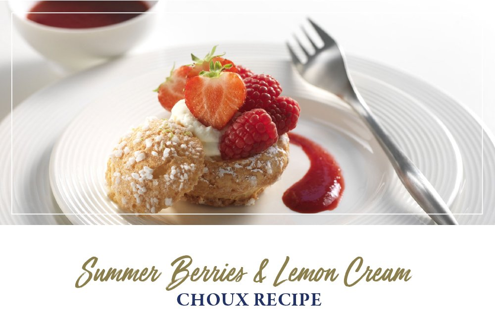 Summer Berries & Lemon Cream Choux Recipe