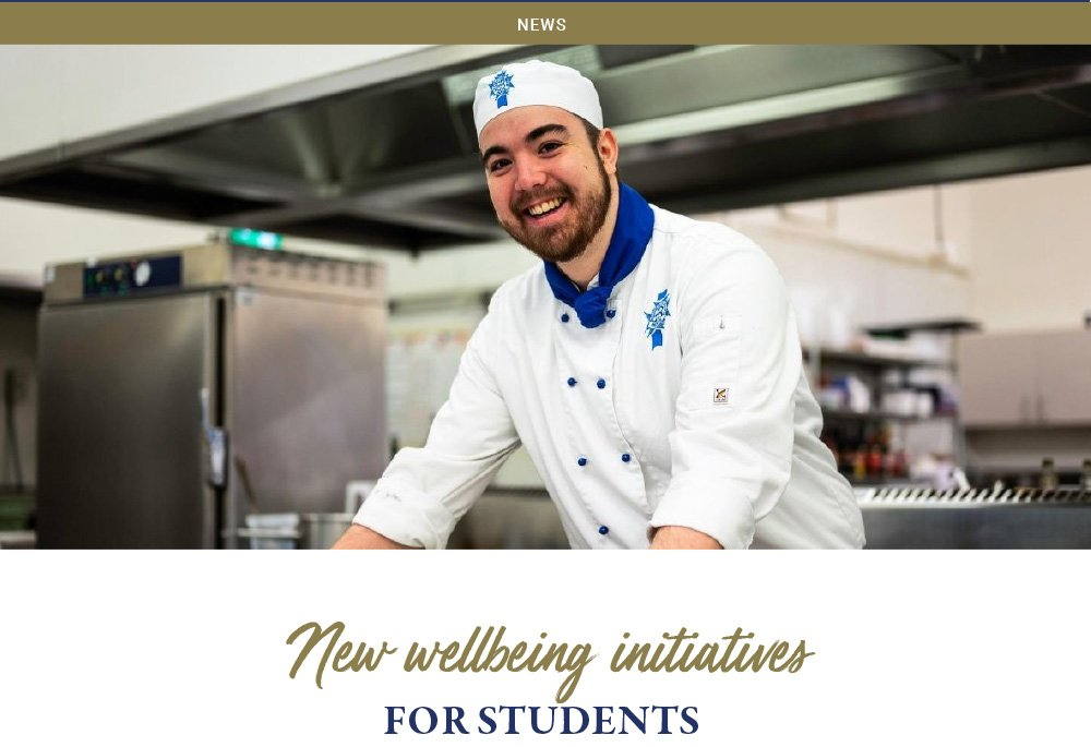 New wellbeing initiatives for students
