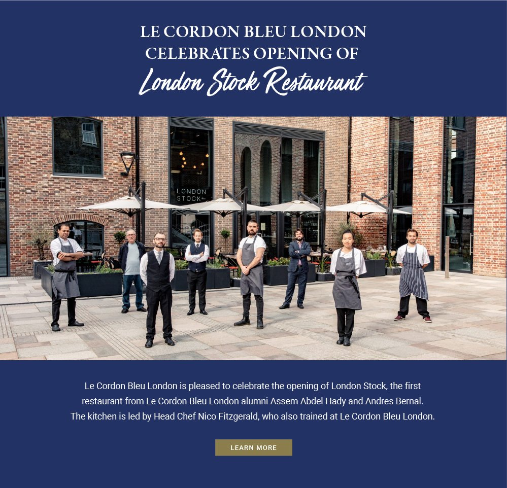 Le Cordon Bleu London celebrates opening of London Stock Restaurant