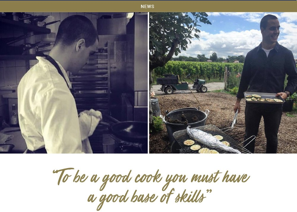 """To be a good cook you must have a good base of skills"""