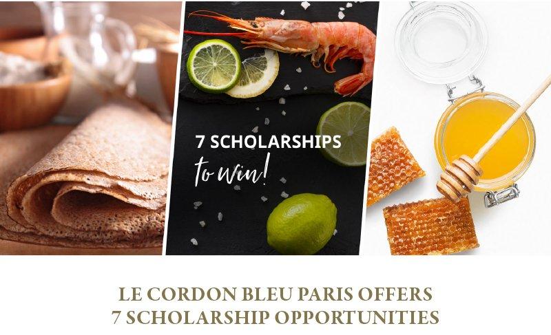 Le Cordon Bleu Paris offers 7 scholarship opportunities