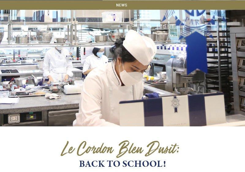 Le Cordon Bleu Dusit: Back to School!