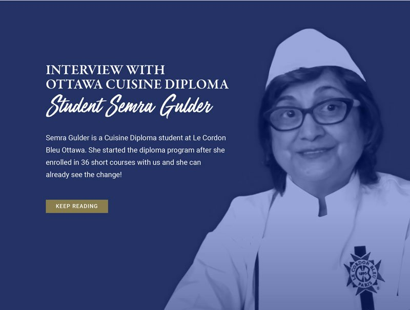 Interview with Ottawa cuisine diploma.