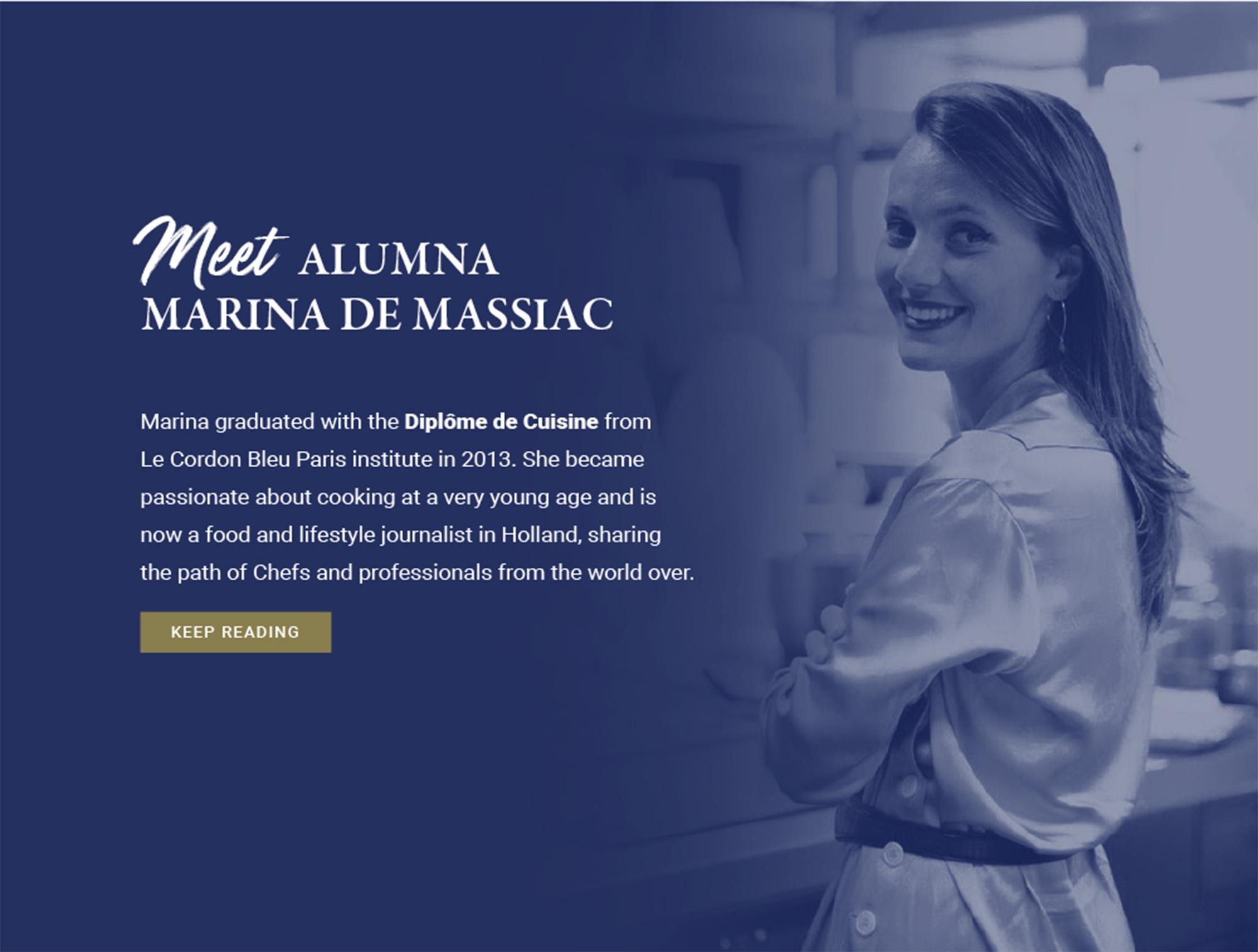 Meet Alumna MARINA DE MASSIAC