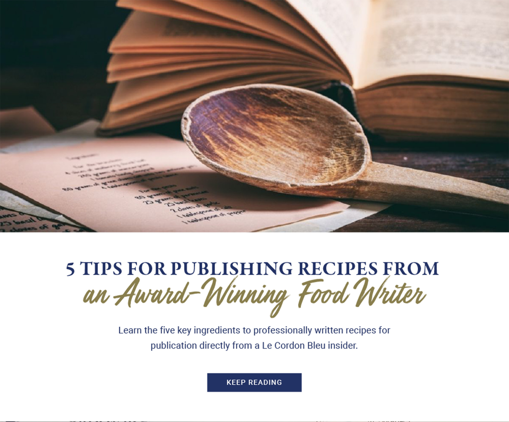 5 TIPS FOR PUBLISHING RECIPES FROM
