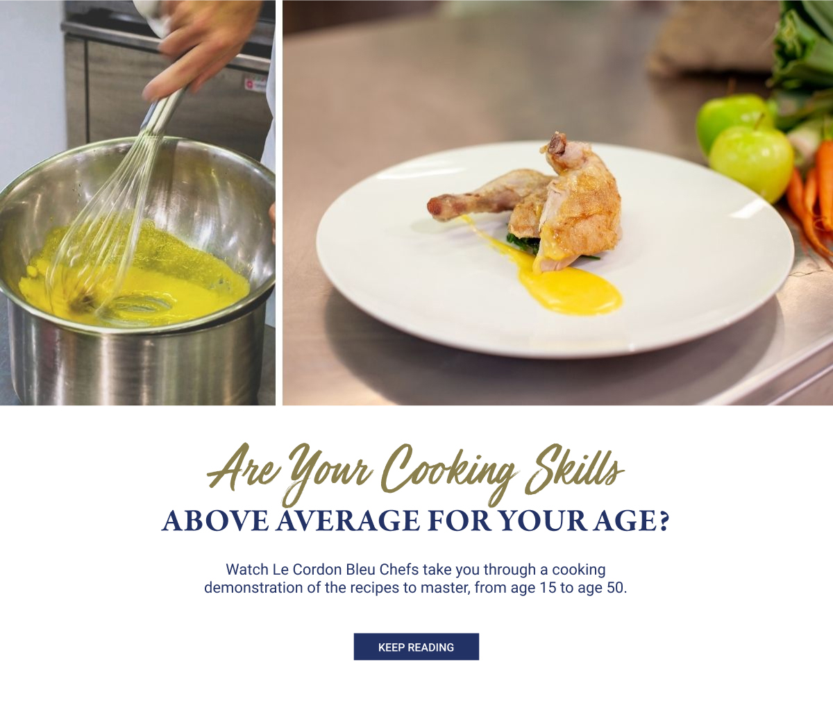 Are Your Cooking Skills Above Average for Your Age?